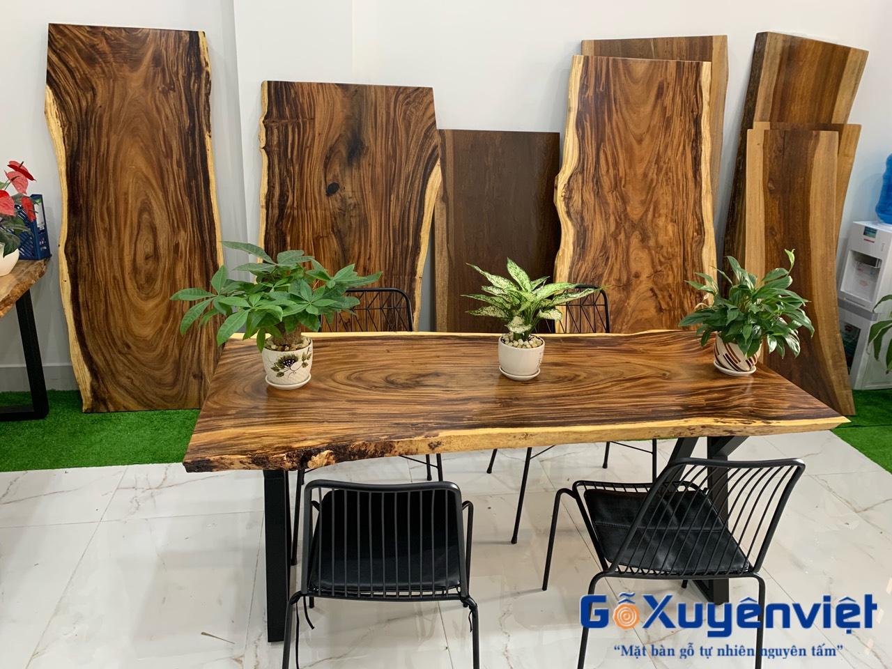 mua bàn gỗ me tây nguyên tấm