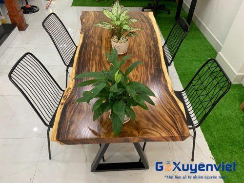 bàn làm việc gỗ me tây