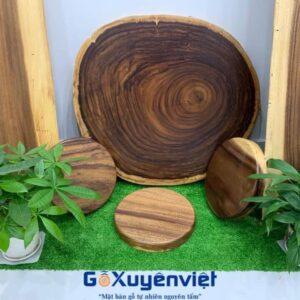bàn cà phê gỗ me tây