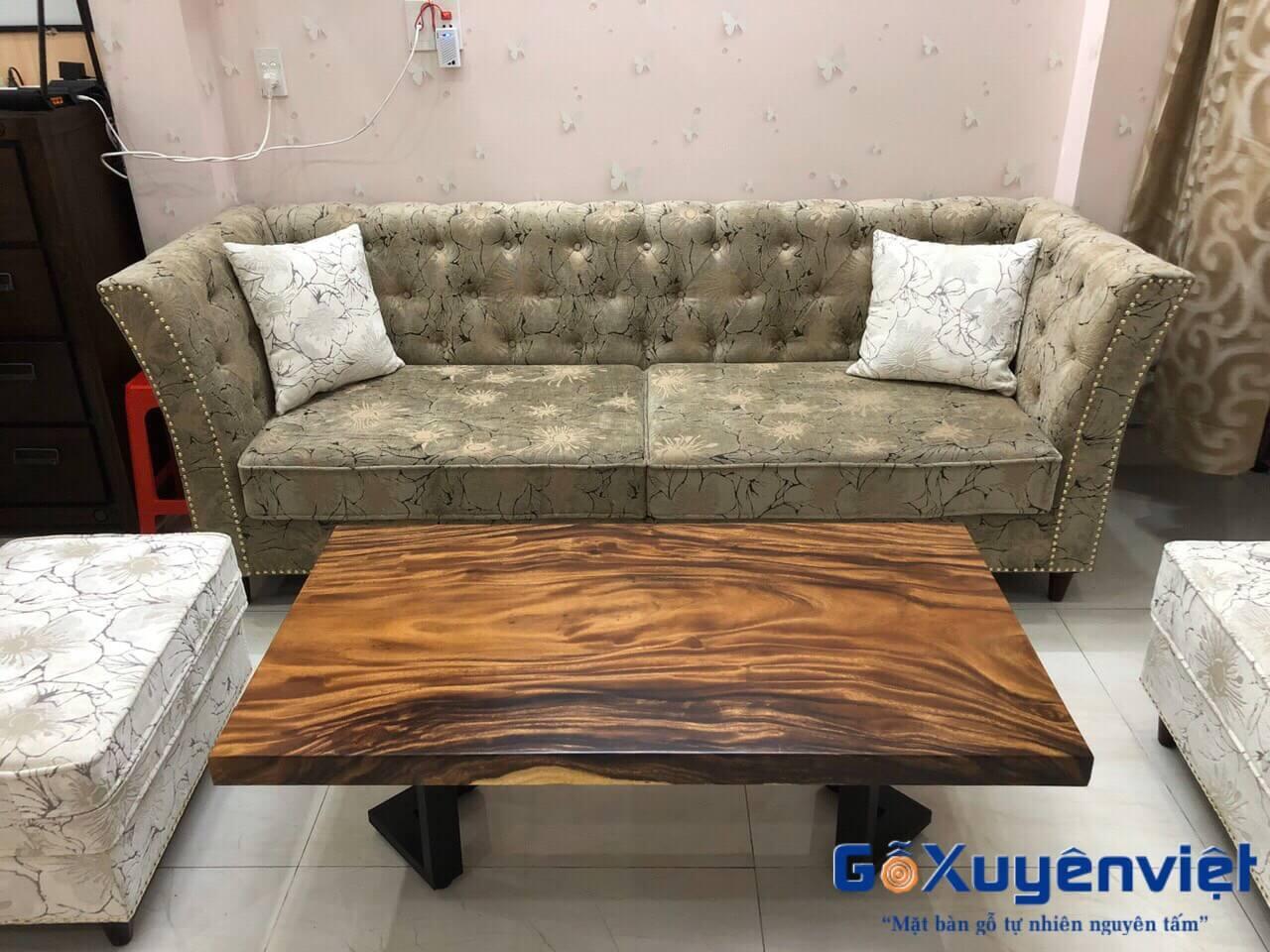 Bộ bàn ghế gỗ me tây