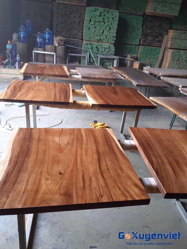 sản xuất bàn gỗ me tây