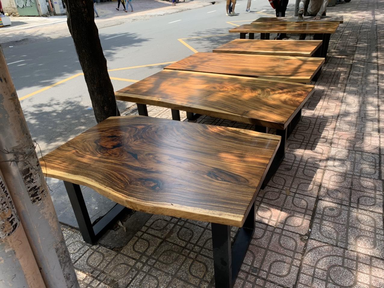 bàn gỗ me tây đẹp