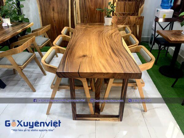 bộ bàn ăn gỗ me tây