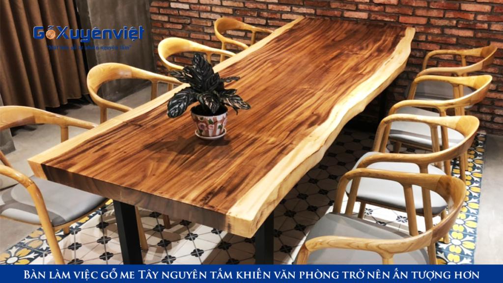 bàn gỗ nguyên khối gỗ me tây